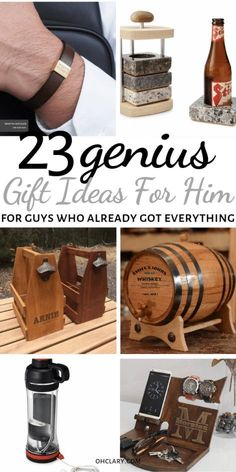 23 Unique Gift Ideas For Him That Will Rock His World! Romantic birthday, Christmas and Valentine's day gifts for boyfriends, husband or friend. These AWESOME presents for men are great for any man in your life, your dad, brother or even a co-worker! Thoughtful Gifts For Him, Romantic Gifts For Him, Unique Gifts For Men, Creative Gifts, Gifts Ideas For Men, Gift For Man, Romantic Suprises For Him, Cool Gifts For Guys, Birthday Present For Husband