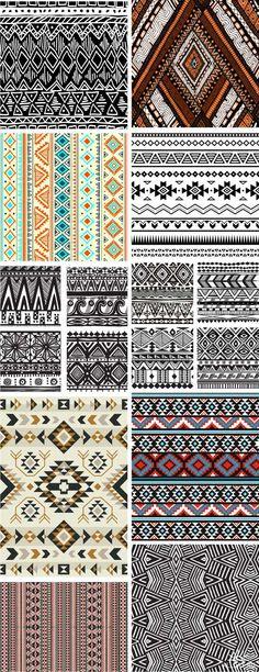 Tribal ethnic ornaments
