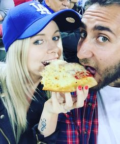 THINK BLUE: Cheat Day!  #cheatday #sunday #pizza #la #losangeles #dodgers #dodgersstadium #california #summer #baseball by jadelehuraymakeup