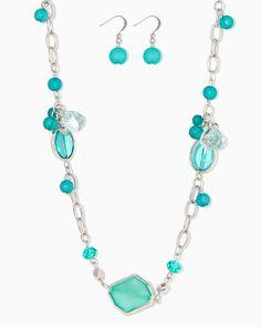 charming charlie | Riviera Station Necklace Set | UPC: 410007548410 #charmingcharlie