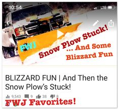 Check out one of oldies but a goodie!  BLIZZARD FUN | And Then the Snow Plow's Stuck! https://youtu.be/Cgts1skhi1A  And don't forget to subscribe to our channel at: http://www.youtube.com/c/fascinatedwithjesus and get our mobile app at: http://app.fascinatedwithjesus.com