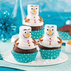 Cupcakes bonshommes de neige au chocolat - Recettes - Cuisine et nutrition - Pratico Pratiques