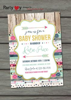 tribal baby shower invitation aztec baby by