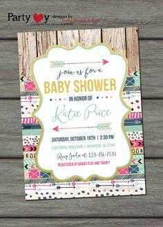 Tribal Baby Shower Invitation Aztec Baby by PartyInvitesAndMore