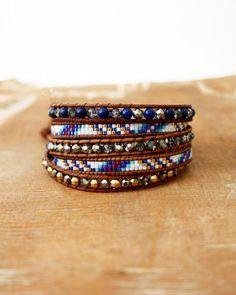 Bracelets Jewels Stuffs, Wrap Bracelets, La Chickadee, P Tits Bijoux,  Colors Bracelet, Wrap Vintage, Lazuli Bracelet, Bijoux Divers, Fashion  Styles