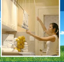 Laundry Lift clothes ( clothesline ) drying rack systems and laundry accessories. Eco friendly allergy safe laundry detergents & bleaches