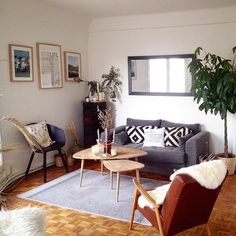 Un salon au style scandinave, decoration, deco, home, scandinavian home @solenebonnet