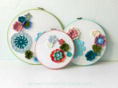 Grow Creative: Crochet Flower Embroidery Hoops