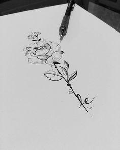 Peça montada para tatuagem da cliente @danielajso fazendo referência ao crescimento e o florescimento da sua fé. Arte registrada. Www.kefonascimento.com.br #tattoodesign