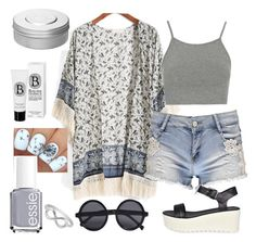 """""""//boohoo style~summer 2015//"""" by purplemonkeys005 ❤ liked on Polyvore featuring Boohoo, Topshop, Essie, Hermès, Diptyque, Jewel Exclusive and maria"""