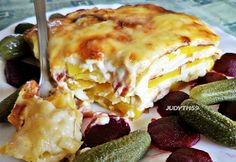 Birthday Brunch, Potato Dishes, Lasagna, Main Dishes, Food And Drink, Yummy Food, Favorite Recipes, Healthy Recipes, Pizza