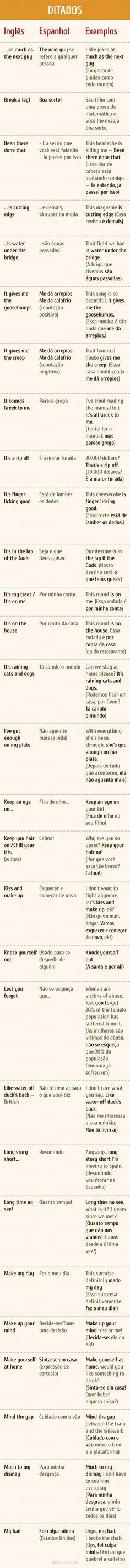 Expressões em inglês que todos deveríamos saber