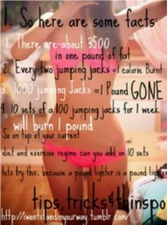 Jumping jacks = weight gone in a week?!! Wow