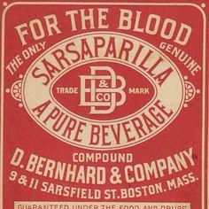 Bartender...gimme a sasparilla. My blood needs a jolt. #typehunter #typediscovery #vintagelabel