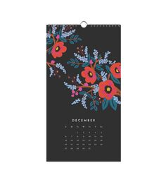 2015 Les Fleurs Wall Calendar - frame 9 and display in grid