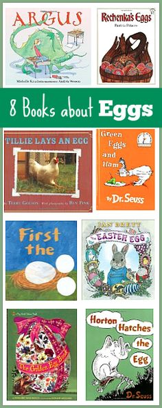 8 Children's Books about Eggs (Great addition to an Easter themed activity or science experiments involving eggs!) ~ Buggy and Buddy