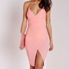 MISSGUIDED ASSYMETRIC BODYCON DRESS Brand new - never worn. Stretch fabric Missguided Dresses