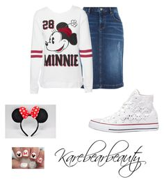 """""""Minnie Mouse"""" by karebearbeauty ❤ liked on Polyvore featuring Monsoon, Disney, Converse, women's clothing, women, female, woman, misses and juniors"""