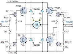 H-Bridge Circuit - bidirectional motor control circuit