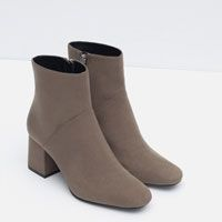 Zara High Heel Pointed Ankle Boots (in Grey) $70
