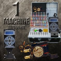 1 Machine Custom Made Tattoo Kit