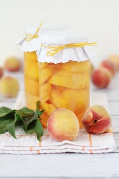 Brzoskwinie w syropie Peach Orchard, Peach And Green, Just Peachy, Summer Fruit, Pear, Summertime, Sweets, Fresh, Canning