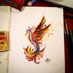 phoenix tattoo watercolor - Google Search