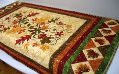 Fall Table Runner Quilted Wall Hanging A New Leaf Autumn