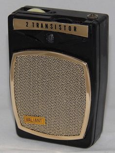Vintage Valiant 2 Transistor Boy's Radio, No Model Number, Made In Japan, Circa 1960s.