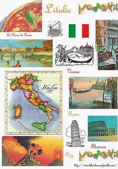 Le bonheur en famille: Géographie, l'Italie...