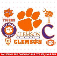 Clemson Tigers Svg, Clemson Tigers Clipart, Clemson Tigers Svg Cut Files, Clemson Tigers Svg Cut, Clemson Tigers File eps dxf pdf png svg