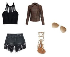 """""""Cool kid"""" by joey-ly on Polyvore featuring Posh Girl, MuuBaa, Sans Souci, Steve Madden and Ray-Ban"""