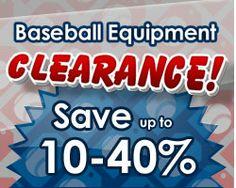 Baseball Equipment Clearance