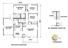 700 to 800 sq ft house plans 700 square feet 2 bedrooms for House plans with offset garage