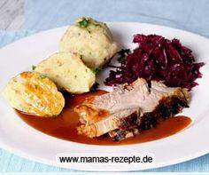 Schweinebraten im Backofen gegart   Mamas Rezepte - mit Bild und Kalorienangaben
