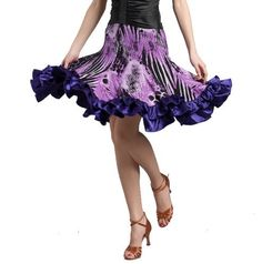 "SGS10AP25 (waist 25""-27"") Women's Ballroom Latin Salsa Tango Swing Dance Skirt Star Dancewear. $52.00"