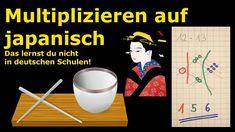 Multiplizieren auf japanisch! Das lernst du nicht in deutschen Schulen! Youtuber, Haha, Tricks, Nerdy, Games, Learning, Montessori, Japanese, Multiplication Tables
