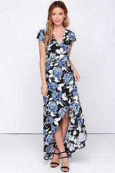 fdab2e6f8c8af Faithfull the Brand Lulu Black Floral Print Wrap Dress at Lulus.com! 15  Dresses