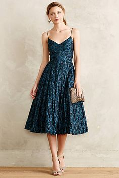 Taffeta Midi Dress. A little bit more smooth fabric - and it would be perfect.