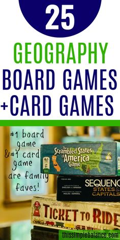 Geography Board Games and Geography Card Games: a list of 25 options to make learning geography natural and fun! #homeschool #homeschooling Geography Games, Geography For Kids, Teaching Geography, Gifted Education, History Education, Teaching History, Family Game Night, Family Games, Homeschool Blogs
