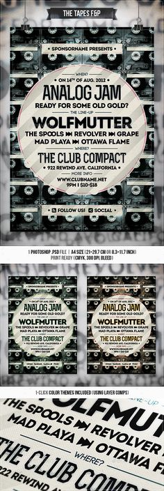 The Tapes  Flyer & Poster — Photoshop PSD #artist #print template • Available here → https://graphicriver.net/item/the-tapes-flyer-poster/2827809?ref=pxcr