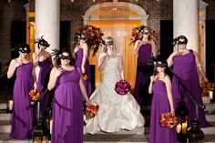 So amazing! A true Mardi Gras World wedding.