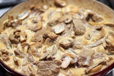 Classic Beef Stroganoff is Russian comfort food at its best. Rib Eye Recipes, Veal Recipes, Cooking Recipes, Dinner Recipes, Cooking Ideas, Czech Recipes, Russian Recipes, Beef Round, Round Steak