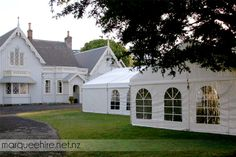 Highwick House provided a great backdrop for this Wedding! Wedding Marquee Hire NZ