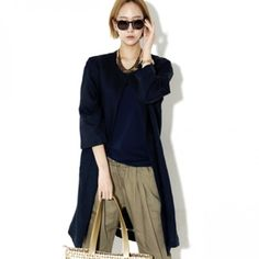 Today's Hot Pick :Open Front Long Coat http://fashionstylep.com/P0000XDY/ju021026/out Any ensemble, when topped with this simple but gorgeous coat, will look instantly polished and sophisticated. This has an open front, long-sleeves, relaxed fit, front square pockets, and thigh-length hem. Wear this coat over your tank top and shorts ensemble for an added oomph.