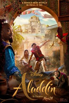 When does Aladdin come out on DVD and Blu-ray? DVD and Blu-ray release date set for September Also Aladdin Redbox, Netflix, and iTunes release dates. In this retelling of the classic nineties film, Aladdin is brought to life using live action. Disney Films, Disney Pixar, Disney Live, Disney Magic, Disney Movie Posters, Aladdin Film, Watch Aladdin, 3d Poster, Retro Poster