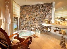 Elegant Badezimmer Aus Stein Und Holz   Ideen Für Ein Spektakuläres Design