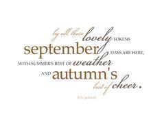 Superb Free Printable September Fall Autumn Art Print