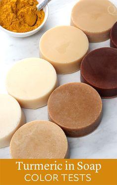 Turmeric Cold Process Soap Color Tests