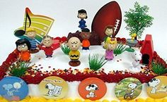 Charlie Brown PEANUTS 18 Piece Birthday CAKE Topper Set Featuring Charlie Brown Lucy Snoopy Linus Peppermint Patty Schroeder Woodstock and More >>> Want additional info? Click on the image.  This link participates in Amazon Service LLC Associates Program, a program designed to let participant earn advertising fees by advertising and linking to Amazon.com.